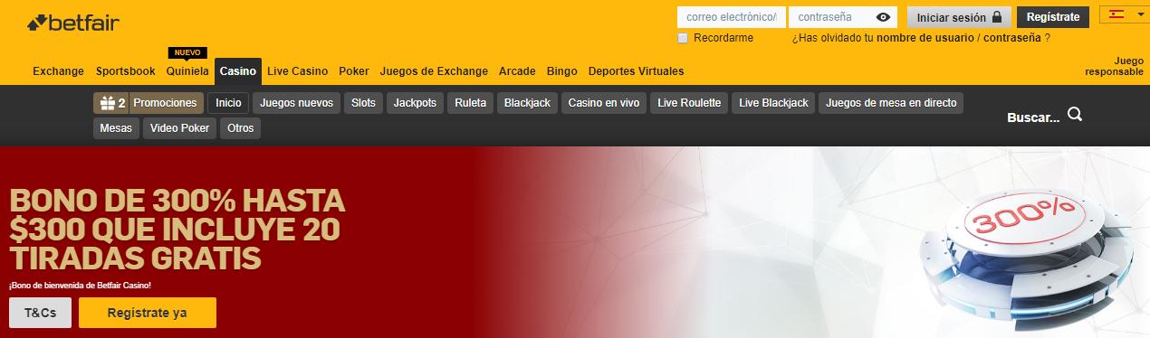 Descubre todo lo bueno que tiene Betfair Casino Perú